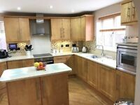 Complete Shaker Style Fitted Kitchen with Island, Quartz worktops and Appliances