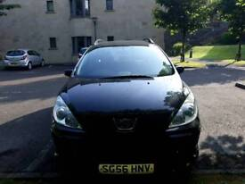 Peugeot Black Estate Car
