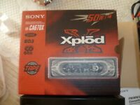 SONY HIGH QUALITY CAR STEREO WITH 10 DISC AUTO-CHANGER AND 50 WATTS HIGH SOUND QUALITY