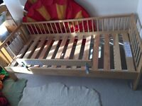 Ikea Gulliver bed frame with slated base and guard rail