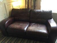 2 weather leather sofa