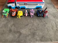 Paw patroller and vehicles