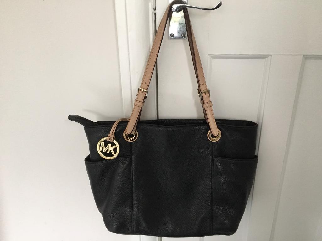 Michael Kors Jet Black Tote Bag Las Bags Handbags