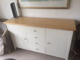 Treske birch Sideboard for dining room - painted/ birch