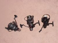 Bait runner fixed spool reels