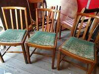 Child's chairs x3