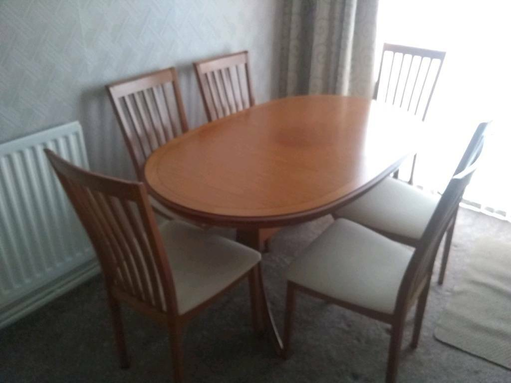 Dining Room Table And 6 Chairs Wall Cabinet