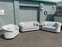 Absolutely Gorgeous grey Chesterfield sofa set 3/2/1 delivery 🚚 sofa suite couch furniture