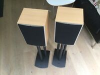 Wharfedale speakers with stands