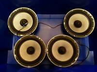 "Bass Face 6.5"" Inch 16.5cm 165mm 800w Mid Bass Drivers Car Door Sub Speakers"