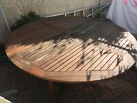 SOLID LARGE TEAK GARDEN TABLE LL29 N WALES rrp £330