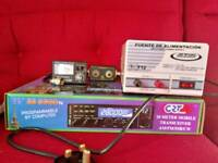Crt ss 6900 cb radio with accessories.