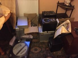 Dj equipment speakers records TAKE everything bargain stereo o