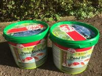 2 x Tetris Pond Sticks Fish Pond Feed 10 litre - Bought last week (RRP £40)