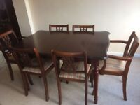 Dining room table with 6 matching chairs £100 ONO