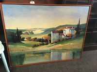 Attractive Large IKEA Framed Oil Painting