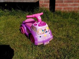 Girls fisher price ride on toy