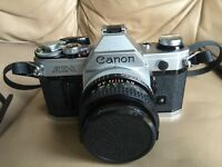 Canon AE1 with a Canon 28mm F2.8 prime lens