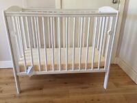 Space Saver Cot - White + FREE MATTRESS!