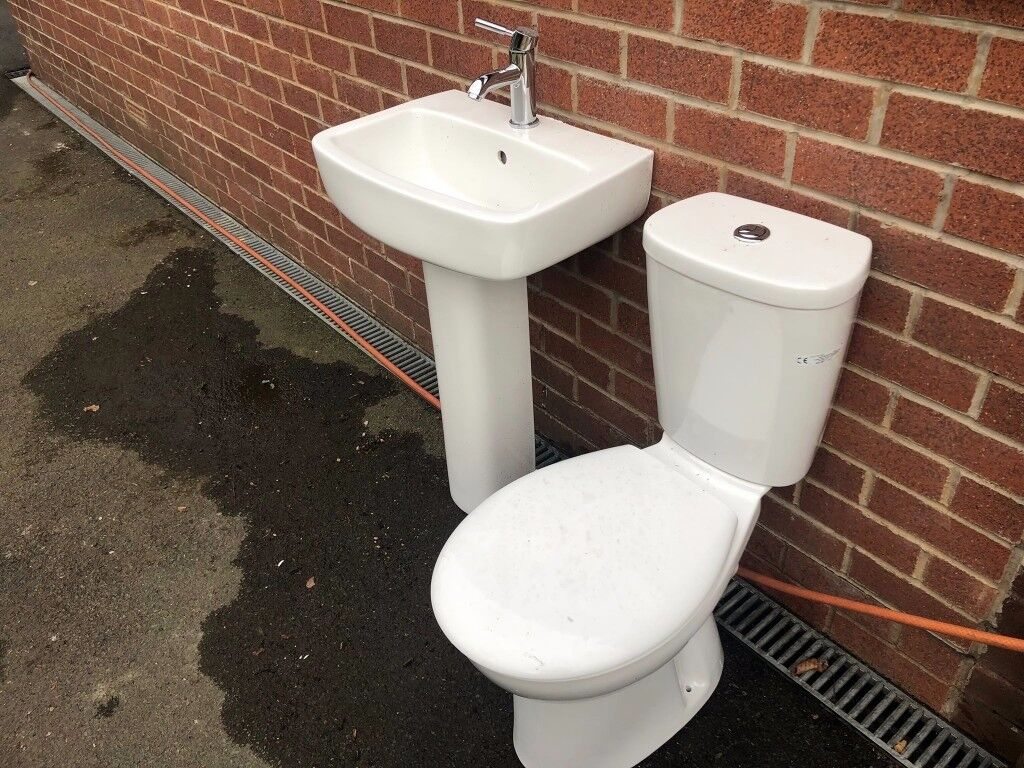 SINK AND TOLET SET WITH MIXER TAPS ONLY 6 MONTHS OLD | in Hadfield ...