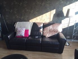 Leather recliner Sofa's