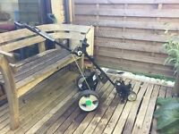 Hill Billy powered golf trolley
