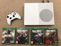 XBOX One S 500GB with 4 x Call of Duty games