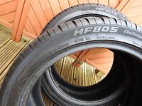 part worn hyfl 18inch budget tyres + space saver spare wheel for s type jaguar 2001