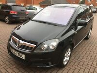 Vauxhall Zafira Exclusive 1.6 Petrol 12 Months MOT HPI Clear