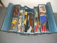 Cantilever Metal Tool Box and Tools