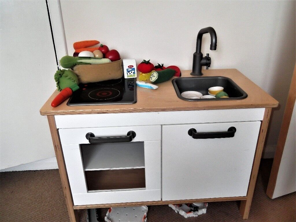 Ikea toy kitchen toy food and crockery
