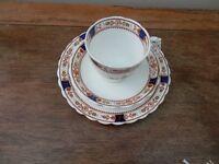 """Staffordshire """"New Chelsea"""" Trio in Medici design"""