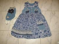 Adorable Girl's Dress + Matching Backpack- size 4***LIKE NEW***