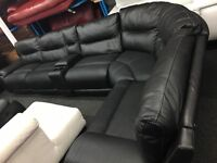 Ex Display LazyBoy Large Recliner Corner Sofa + Media Tray + CupHolders (left or right side Corner)