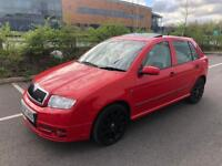 2005 55 SKODA FABIA VRS TDI 130 BHP *FSH* x2 keys 1 LADY OWNER LAST 9 years golf polo