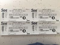 Carfest North weekend camping tickets family of 4, 2 adults & 2 children