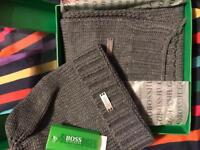 Hugo boss hat and scarf set