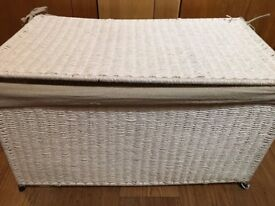 White Zara Home trunk / basket with lid - single or a pair