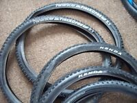 job lot 6 mountain bike tyres and rear wheel...£20