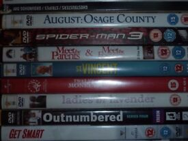 Job lot of 25 DVDs - various (Moone Boy, Fockers, Outnumbered, Happy Feet, Wimpy Kid, Ghostbusters)