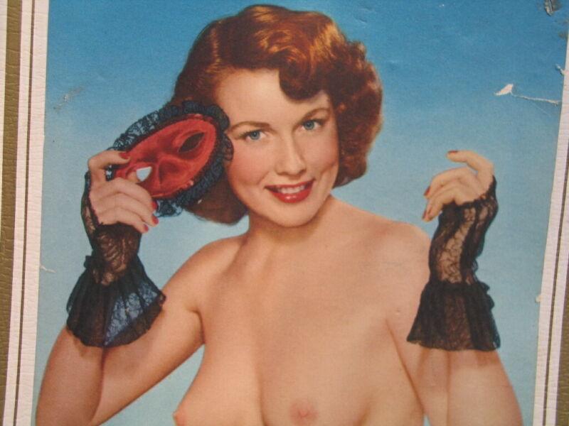 Vintage 1952 Pin Up Calendar - Hub