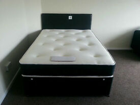 Bed with mattresses orthopaedic / single