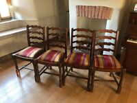 Quality dining chairs x 4