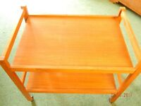 wooden dining trolley