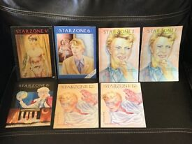 David Bowie Starzone Magazine - Volumes 5,6, 7(x2), 8 and 12 (x2)