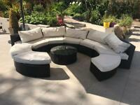 Round 8 seater garden sofa set