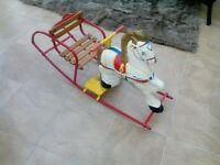 Vintage MOBO Tin Plate Rocking Horse