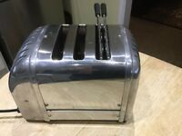 DUALIT CHROME 2 SLICE TOASTER WITH SANDWICH