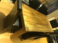 Solid oak 6ft table & 6 chairs