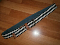 Superdry 100% Cotton Belt in navy/cream (Large)